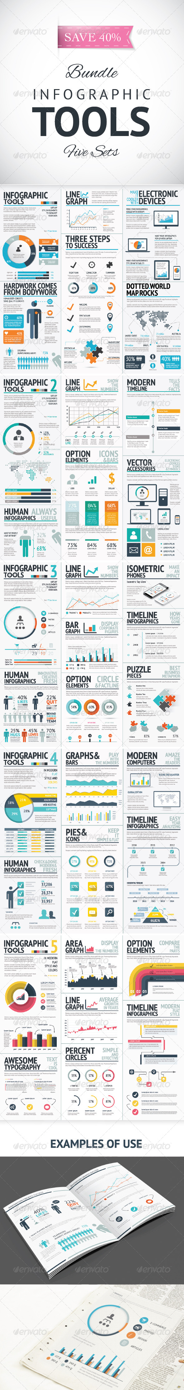 GraphicRiver Infographic Vector Elements Bundle 8368037