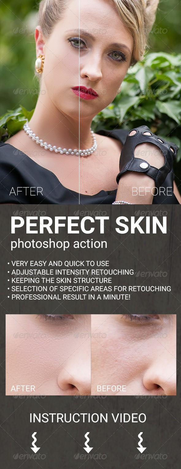 GraphicRiver Perfect Skin Photoshop Action 8322311