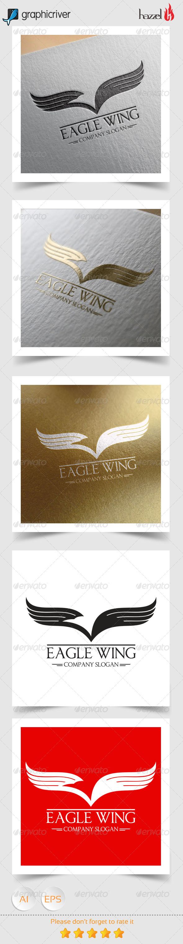 GraphicRiver Eagle Wing Logo 8368112