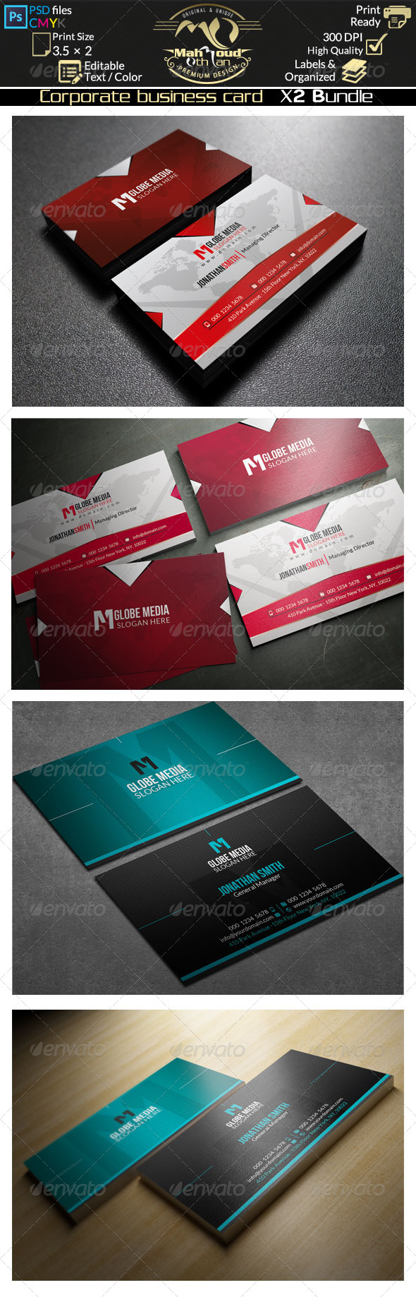 GraphicRiver Corporate Business Card Bundle 02 8368144