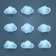 Set of Blue Cloud Icons - GraphicRiver Item for Sale