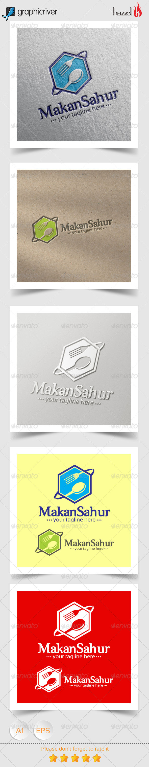 GraphicRiver Makan Sahur Logo 8368217