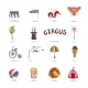 Set of Colorful Circus Icons - GraphicRiver Item for Sale
