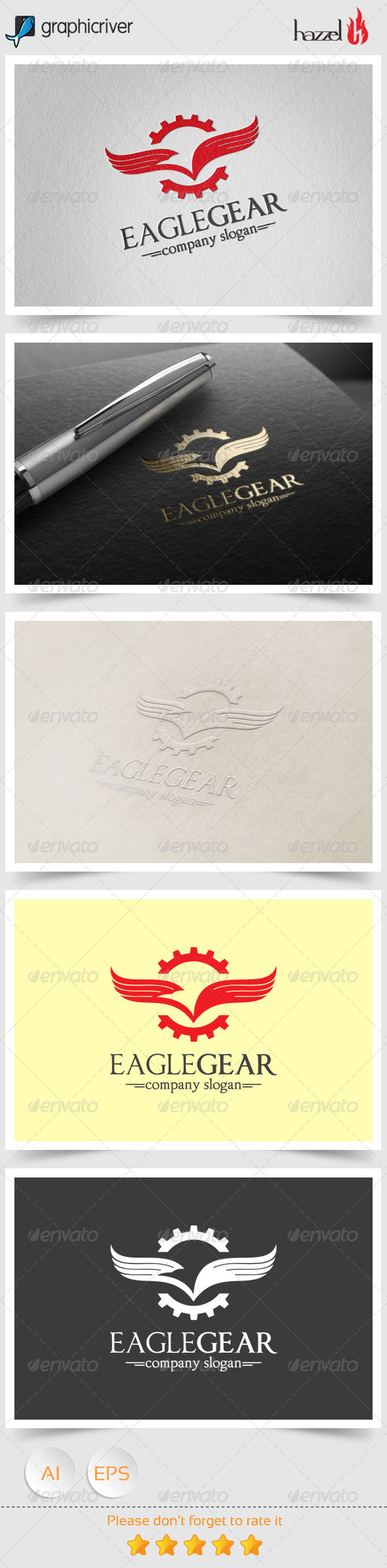 GraphicRiver Eagle Gear Logo 8368337