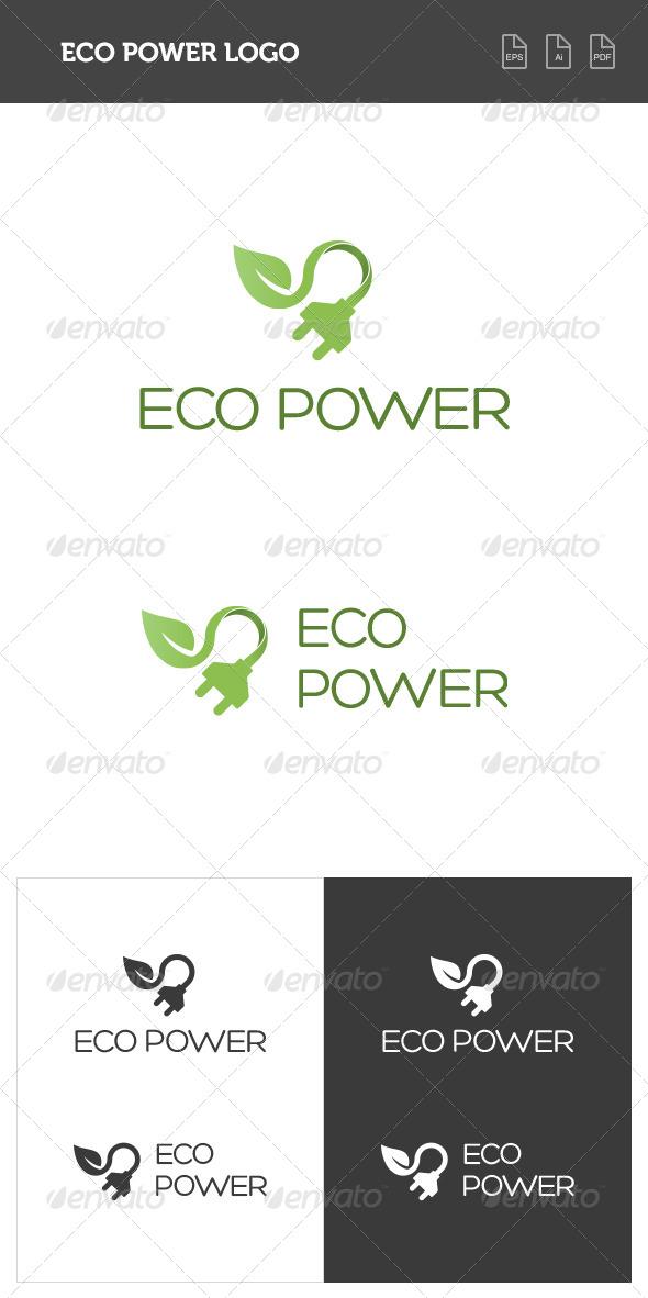GraphicRiver Eco Power Logo 8368536