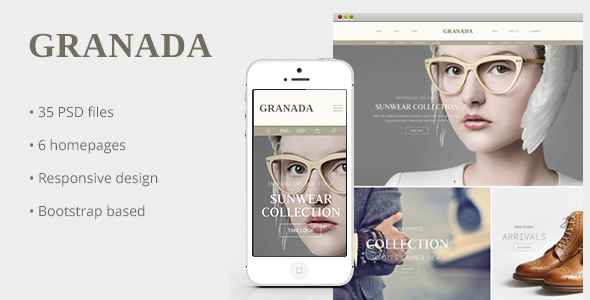 ThemeForest Granada Responsive eCommerce PSD Template 8368595