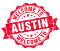 welcome to Austin red vintage isolated seal - PhotoDune Item for Sale