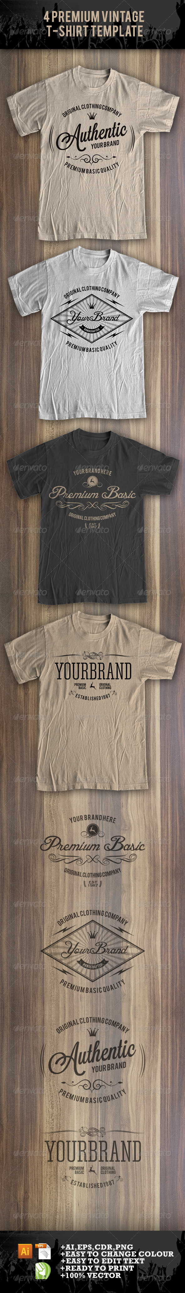 GraphicRiver 4 Premium T-Shirt Template 8369029