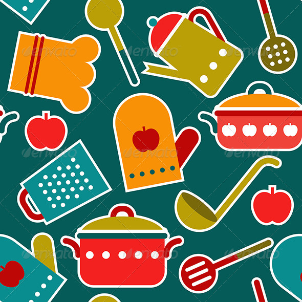 GraphicRiver Seamless Pattern of Kitchen Utensil 8369094