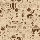 Retro Seamless Circus Background Pattern - GraphicRiver Item for Sale