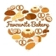 Heart Shaped Sweets and Bread Badge - GraphicRiver Item for Sale
