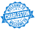 welcome to Charleston blue vintage isolated seal - PhotoDune Item for Sale
