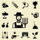 Farmer Surrounded by Farming Themed Icons - GraphicRiver Item for Sale