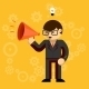 Businessman with a Megaphone - GraphicRiver Item for Sale