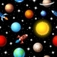 Seamless Kids Design of Rockets and Planets - GraphicRiver Item for Sale