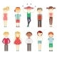Small Children in Colorful Clothes - GraphicRiver Item for Sale