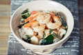 Bowls of asian fried shrimp and rice - PhotoDune Item for Sale