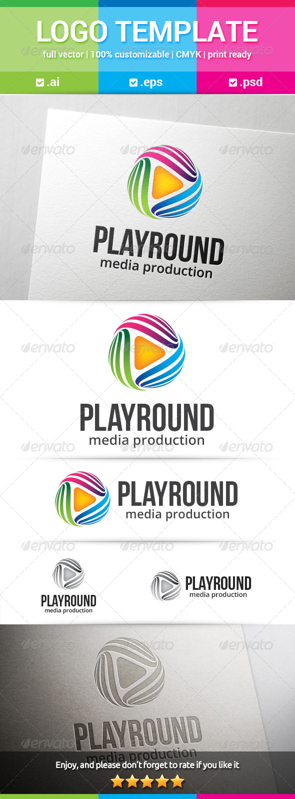 GraphicRiver Play Round Logo 8369940