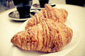 coffee and croissants on table - PhotoDune Item for Sale