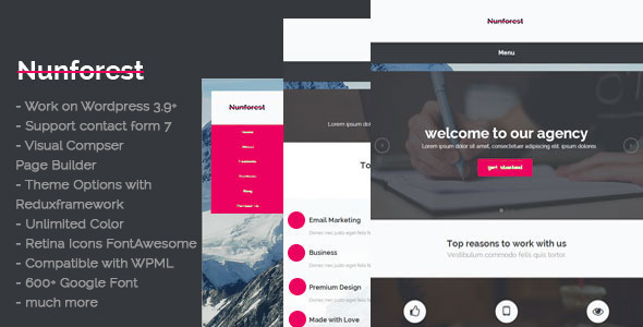 Nunforest - Multipurpose WP theme