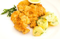 veal cutlet and lemon, austrian cuisine - PhotoDune Item for Sale
