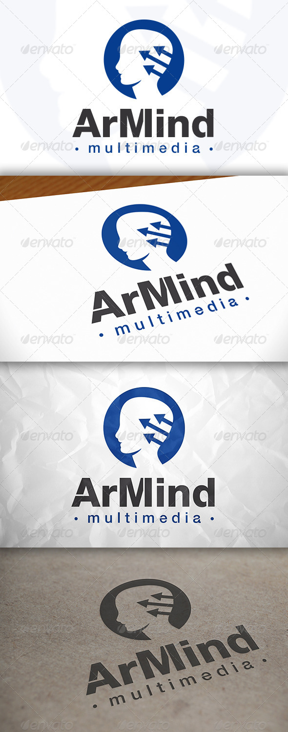 GraphicRiver Stats Mind Logo 8370123