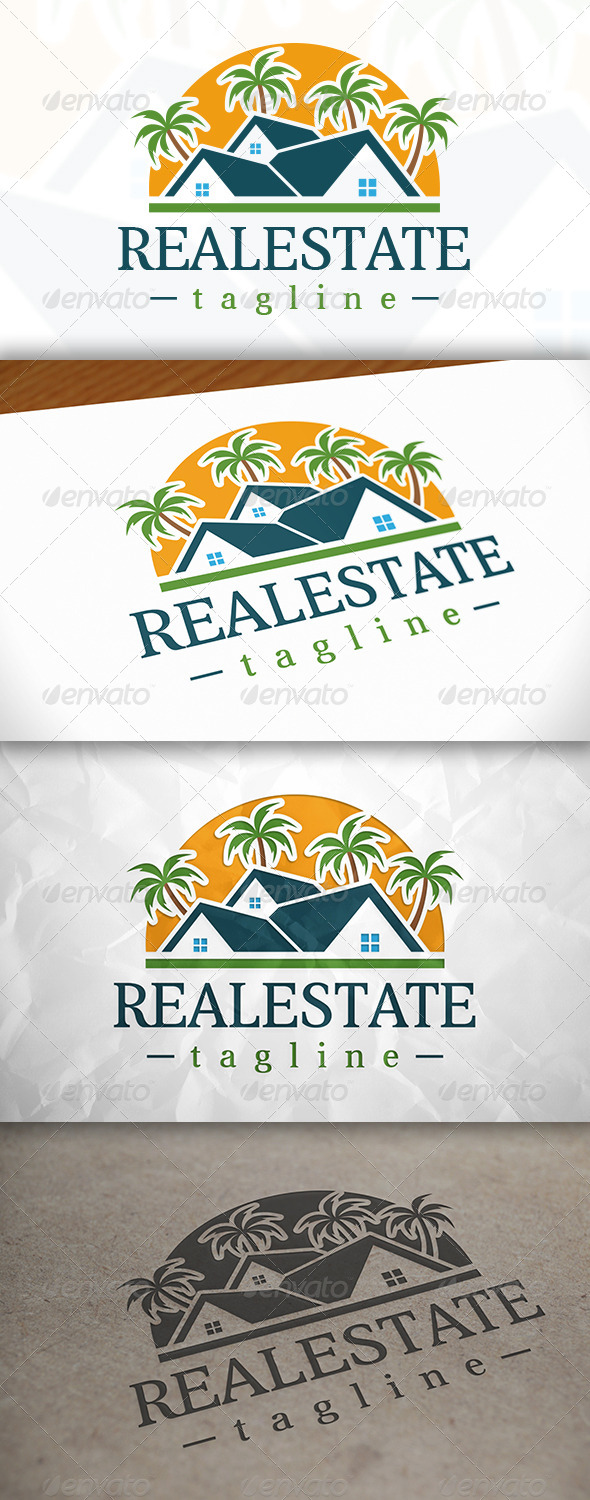 GraphicRiver Beach Real Estate Logo 8370493