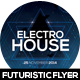 Electro House Futuristic Flyer Design