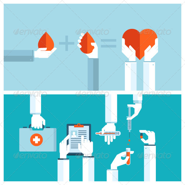 GraphicRiver Concepts for Blood Transfusion and Medical Care 8370791