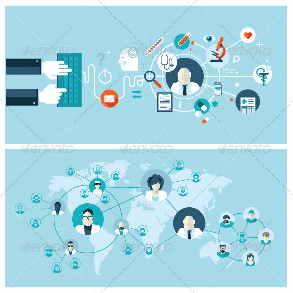 GraphicRiver Concepts for Online Medical Services and Support 8370826
