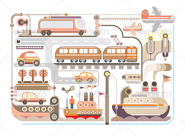 GraphicRiver Travel and Transport Illustration 8370949