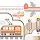 Travel and Transport Illustration  - GraphicRiver Item for Sale