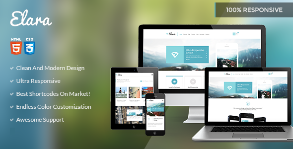 ThemeForest Elara Multipurpose HTML Template 8370954