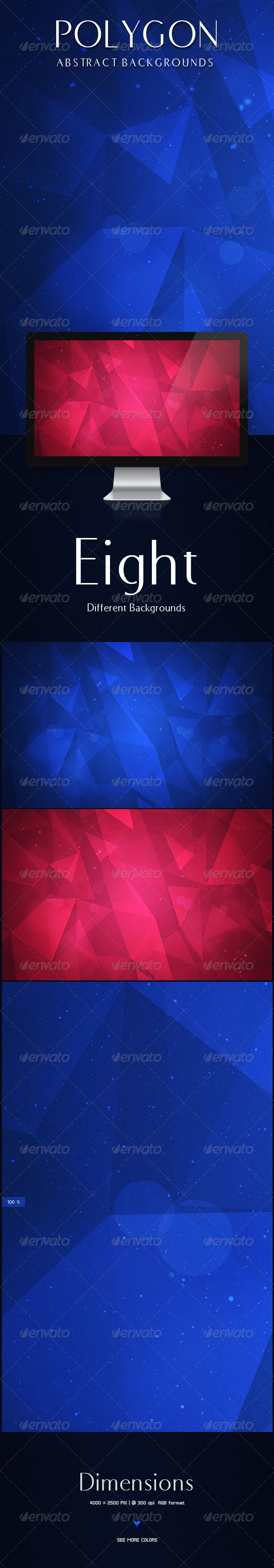 GraphicRiver Polygon Abstract Backgrounds 8370963