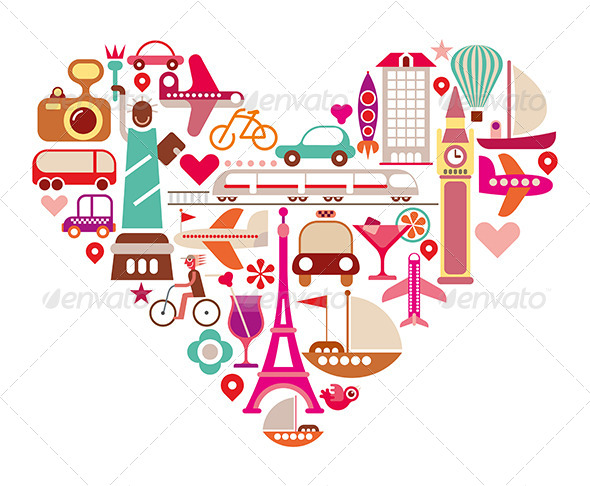 GraphicRiver Love Travel Illustration 8370996