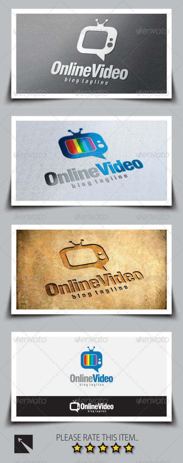 Online Video Blog Logo Template