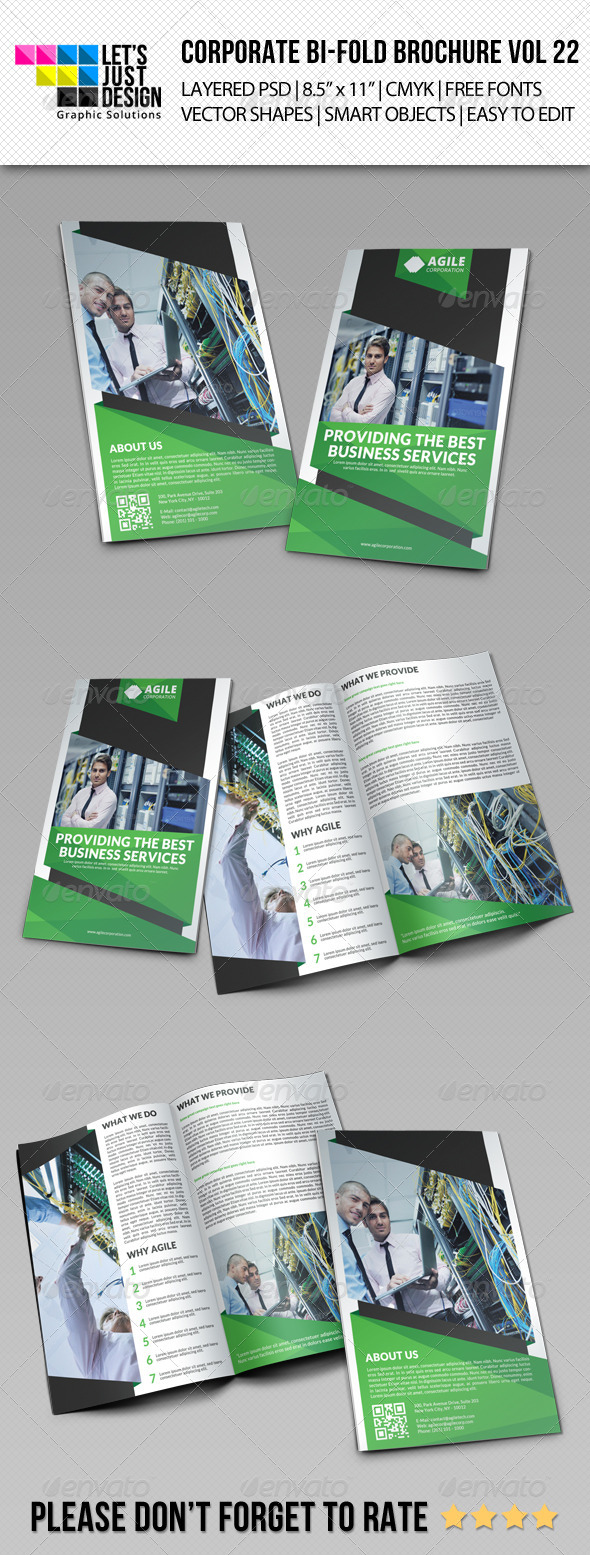 GraphicRiver Creative Corporate Bi-Fold Brochure Vol 22 8371162