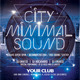 City Minimal Sound Party Flyer - GraphicRiver Item for Sale