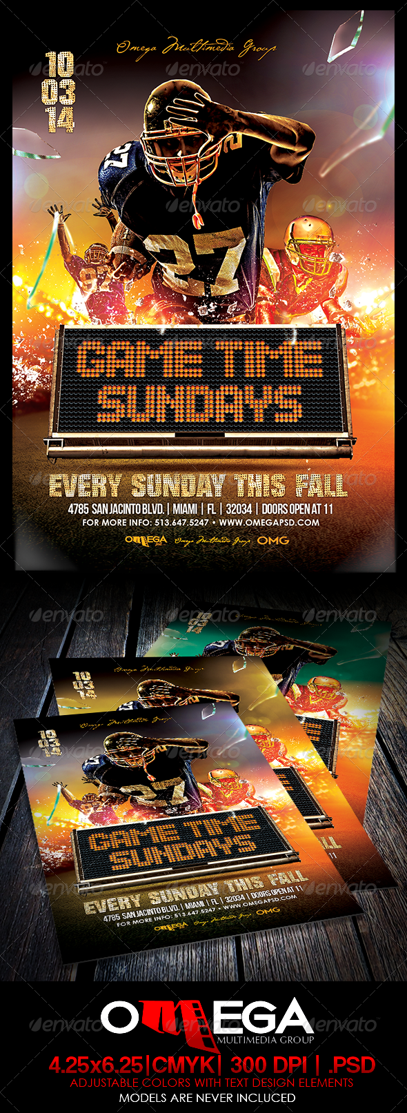 GraphicRiver Gametime Sundays 8371600