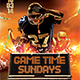 Gametime Sundays - GraphicRiver Item for Sale