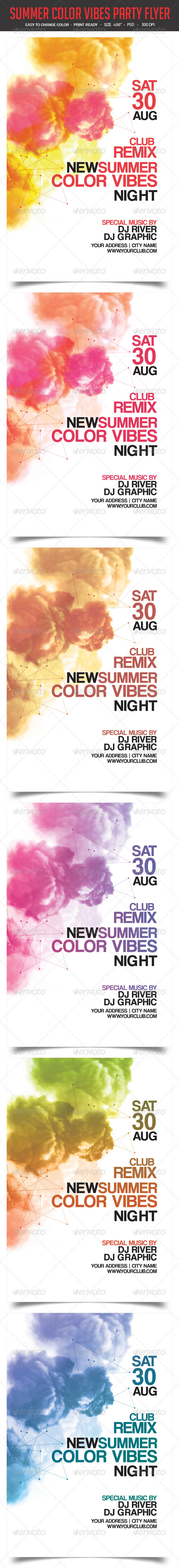 GraphicRiver Summer Color Vibes Party Flyer 8371679
