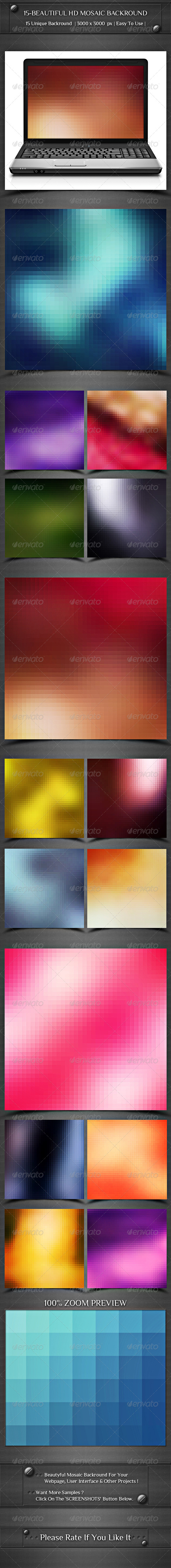 GraphicRiver 15- Beautiful HD Mosaik Backround 8371688