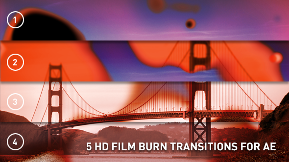 HD Film Burn Transitions