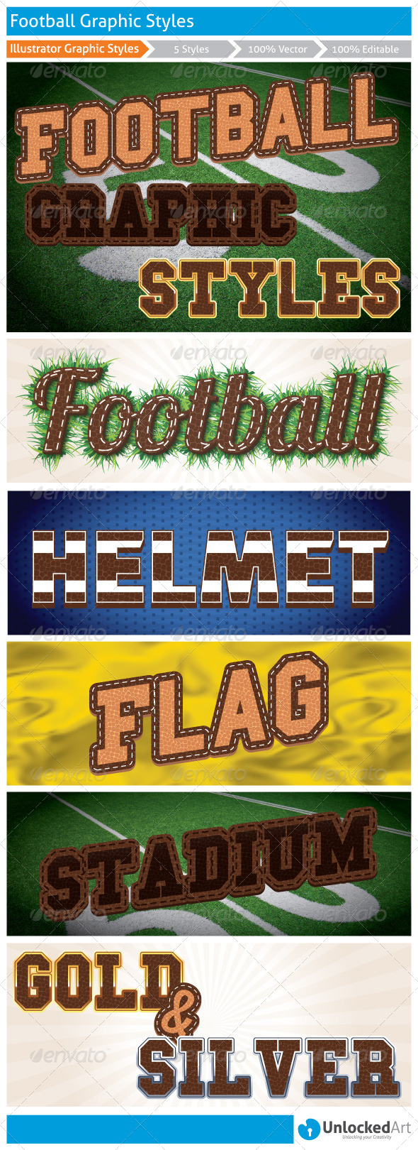 GraphicRiver Football Graphic Styles 8371722