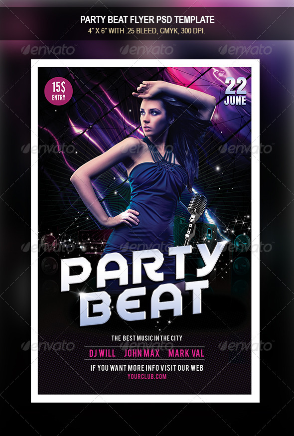 GraphicRiver Party Beat Flyer 8371736