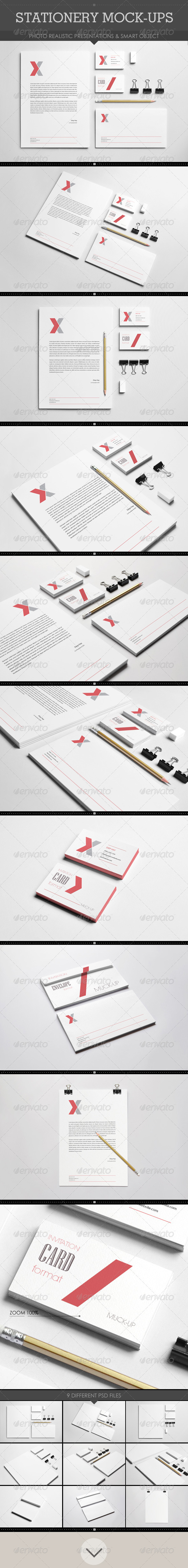 GraphicRiver Realistic Stationery Mockups 8371772