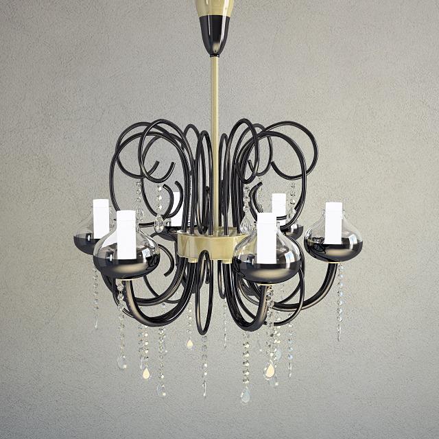 3DOcean Chandelier Intrecci Lamp 3D Model 850075