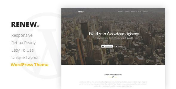 RENEW - Creative One Page WordPress Theme