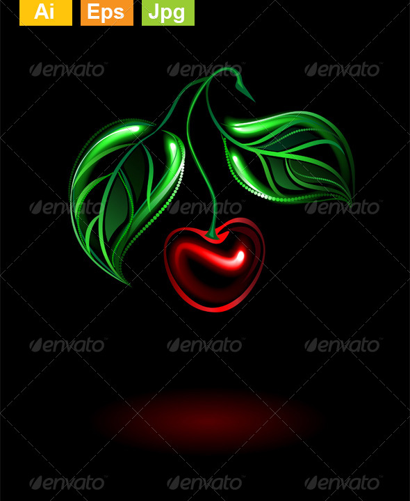 GraphicRiver Glowing Cherry 8372474