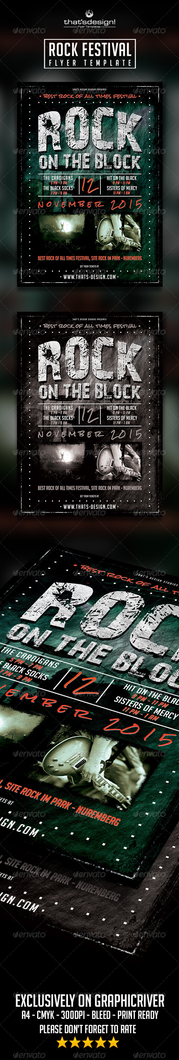 GraphicRiver Rock Festival Flyer Template 8372494